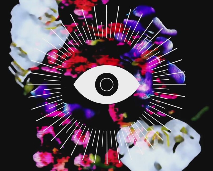 Artistic image showing an eye in the middle.